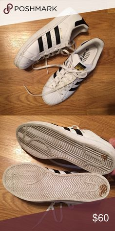 Adidas © Superstars Light wear but in great shape! Adidas Shoes Sneakers