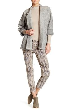 Neutral vibes.  Free People Snake Print Skinny Jeans