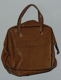 #Retro #vintage 60`s 70`s brown #leatherette handbag,  View more on the LINK: 	http://www.zeppy.io/product/gb/2/152381448415/