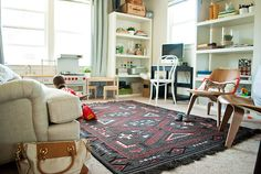 living room with kids - those chairs!