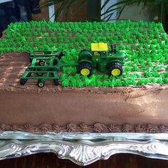 Awesome tractor cake idea for little boy's birthday! @Alysha Cauffman Cauffman Cauffman Jones  this reminded me of you!