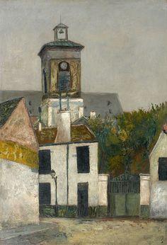 Maurice Utrillo Eglise Sainte-Marguerite à Paris, circa 1910-1912 Huile sur carton 73 x 50 cm Estimation : 80 000-130 000 €