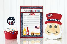 Eventful - 4th of July BBQ by Taylor VanBruggen #Cardmaking, #TEMatched, #Invitations, #Entertaining, #EatsandTreats, #SackittoYou, #LittleBitsDies, #Patriotic, #FourthofJuly, #TE, #ShareJoy