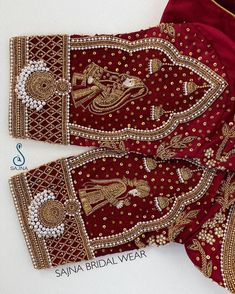 To get your outfit customized visit us at Chennai, Vadapalani or call/msg us at for appointments, online order and further… Hand Embroidery Design Patterns, Hand Embroidery Videos, Designer Blouse Patterns, Hand Work Embroidery, Wedding Saree Blouse Designs, Best Blouse Designs, Pattu Saree Blouse Designs, Sari Blouse, Sleeve Designs