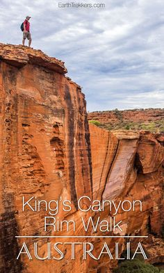 Hiking Kings Canyon Rim Walk in Australia