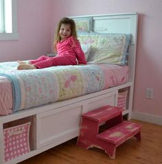 DIY Furniture : DIY Hailey Storage Bed