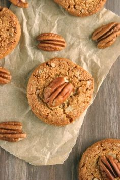 Grain-Free Almond Pecan Cookies, for the cookie monster in all of us!