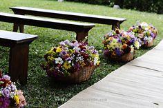 Amei as cestas pra um casamento ao ar livre