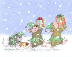 """Jingle elves, Jingle elves ..."" from House-Mouse Designs®"