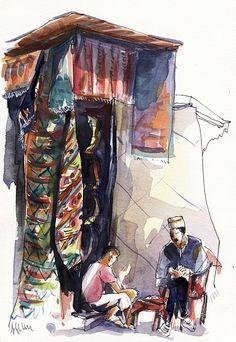 Atelier de la Salamandre - cours et stages de dessin - carnets de voyage - formations chaux, tadelakt, patines.