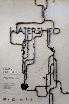 by Designers L-ABLE & QB (typography as an environmental disaster, no Photoshop)