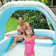 Inflated Swimming Pool Family Inflatable Seat Cabana Sprayer Water Kids Garden