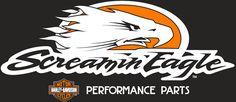logo Harley Davison, Hd Street Glide, Screaming Eagle, Performance Parts, Logos, Eagles, Tanks, Motorcycles, Stickers