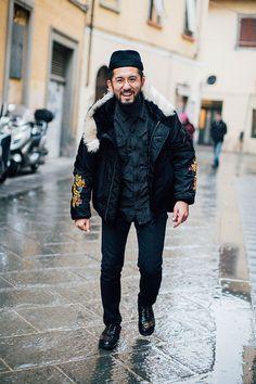 Street looks au Pitti Uomo automne hiver 2016 2017 a Florence