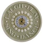 Laugh -Play- Sing- Dance Wall Clock | Jack and Jill Boutique