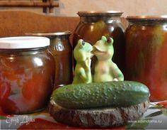 Огурцы в кетчупе. Ингредиенты: вода, уксус, сахар