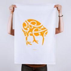 Iwi Kiwi Tea Towel, cotton, by Kinoo.