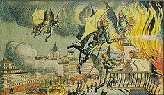 Villemard 1910 Drawings predicting the year 2000 - Air Firemen   Flickr - Photo Sharing!