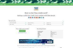 real credit card #creditcard Real Working Credit Card Generator