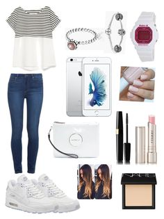 """Untitled #13"" by sdbeautyandfashion on Polyvore featuring Paige Denim, Zara, NIKE, Pandora, Casio, NARS Cosmetics and By Terry"