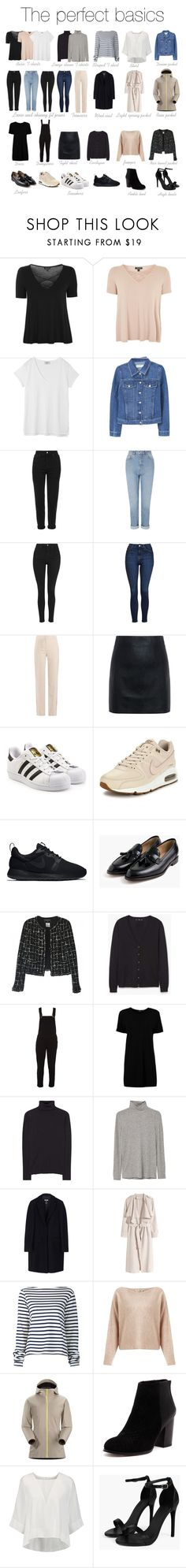 """""""The basics"""" by ida-kruse-knudsen on Polyvore featuring Topshop, Hush, MANGO, Miss Selfridge, Givenchy, McQ by Alexander McQueen, adidas Originals, NIKE, J.Crew and Chanel"""