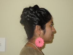 I am in love with braids and braided hairstyles. Most of my videos are DIY hairstyles for long hair. Beautiful Long Hair, Beautiful Girl Indian, Gorgeous Hair, Bridal Bun, Tiaras And Crowns, Braided Hairstyles, Crochet Earrings, Hair Makeup, Braids