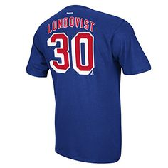New York Rangers Henrik Lundqvist Name and Number T-Shirt - XX-Large