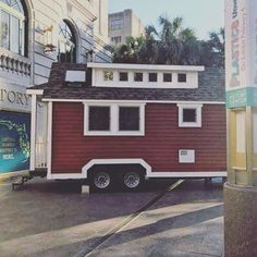 The tiny house is here! Come see the inside at the debut of #plasticsunwrapped on Saturday! #tinyhouse