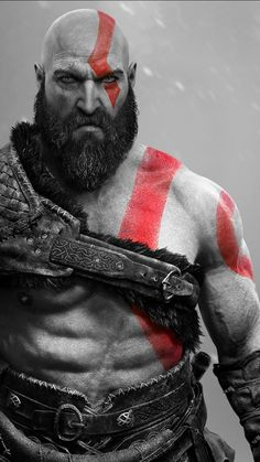 Kratos god of war (iphone xs max) Kratos God Of War, War Tattoo, Memorial Tattoos, Black Panther Marvel, Fantasy Male, Gaming Wallpapers, Animation, Nature Pictures, Models