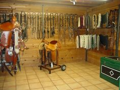 Great tack room! Very organized and clean!