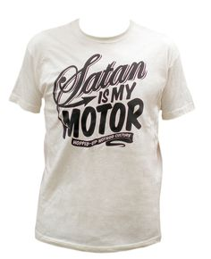 """handprinted """"Satan is my motor"""" by Hopped-Up"""