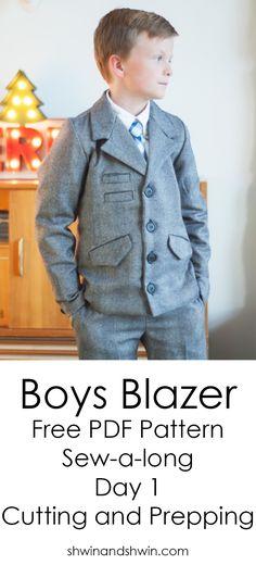 Boys Blazer Pattern Sew-a-long   FREE PDF Pattern    Cutting and Prepping
