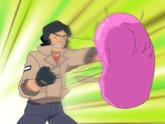 """Kogoro, you beat the Space Cerberus liver."""