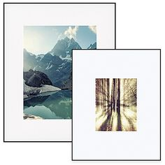 Artcare™ Aluminum Picture Frame in Black with Wide Mat