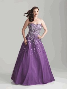 43f2c6438a5 Night Moves Plus Size Prom Dress 6790W Sparkle Gown