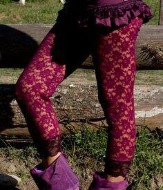 Purple Jade Lace leggings