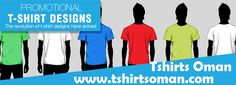 Promotional Tshirts, Corporate Tshirts, Staff uniforms, Custom printing or Embroidery complete solution by Tshirts Oman.