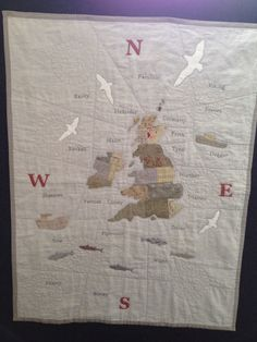 Fishing weather forecast quilt by Janet Clare