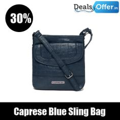 Caprese Blue Sling Bag @ 305 Off