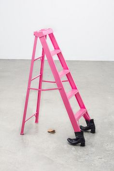 pink ladder by Rafael Benjamin Ochoa on Flickr.
