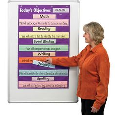 Display Learning Goals or Objectives with Ease Assignments Really Good Stuff Learning Goals Pocket Chart
