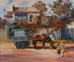 adawnstyle likes this Australian Painting, Australian Artists, Landscape Paintings, Beautiful Pictures, Drawings, Artwork, Aprons, Vintage, Decoupage