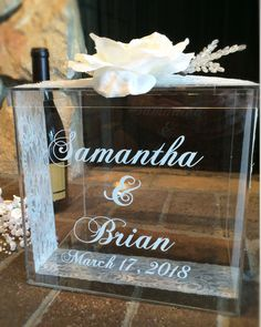 PERSONALIZED WEDDING CARD BOX This personalized wedding gift card ...