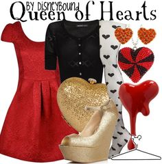Queen of hearts for alice and wonderland day. Maybe with long skirt or pants?