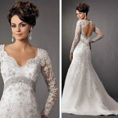 Custom white/ivory lace wedding dress vshaped von shortpromdress, $289,00