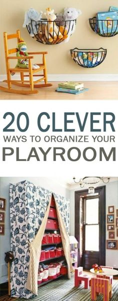 20 Clever Ways to Organize Your Playroom - 101 Days of Organization