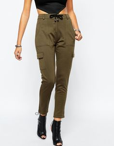 Image 1 of Tiger Mist Low Rise Cargo Trouser