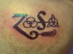 Led Zeppellin tattoo Zoso back