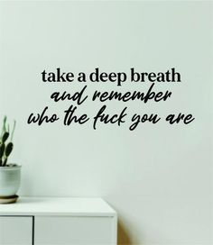 Take A Deep Breath Quote Wall Decal Sticker Vinyl Art Decor Bedroom Room Boy Girl Namaste Yoga Meditate Buddha