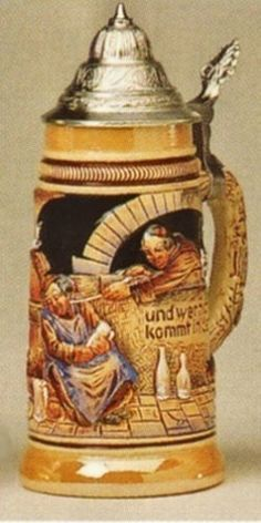 Drink Beer and Go To Heaven German Beer Stein - Authentic Beer Steins from Germany